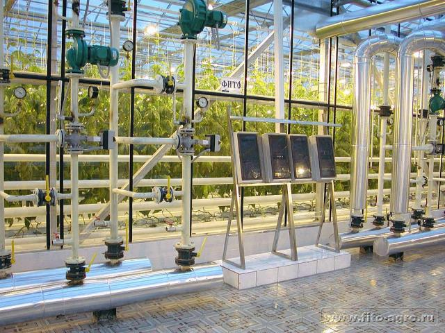 engineering systems for irrigation solutions in greenhouse Maiskiy
