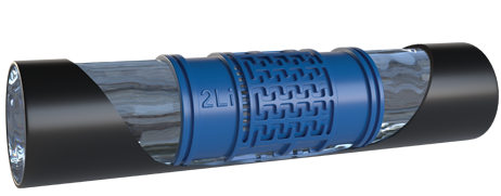 SUPER COMPACT Cylindrical Dripper of drip lines irrigation