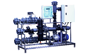 irrigation systems- systems-water treatment unit with recirculation and filtration 100 m3-h