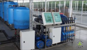 irrigation systems- controller in turnkey project in greenhouse